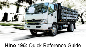 Hino 195 Quick Reference Guide